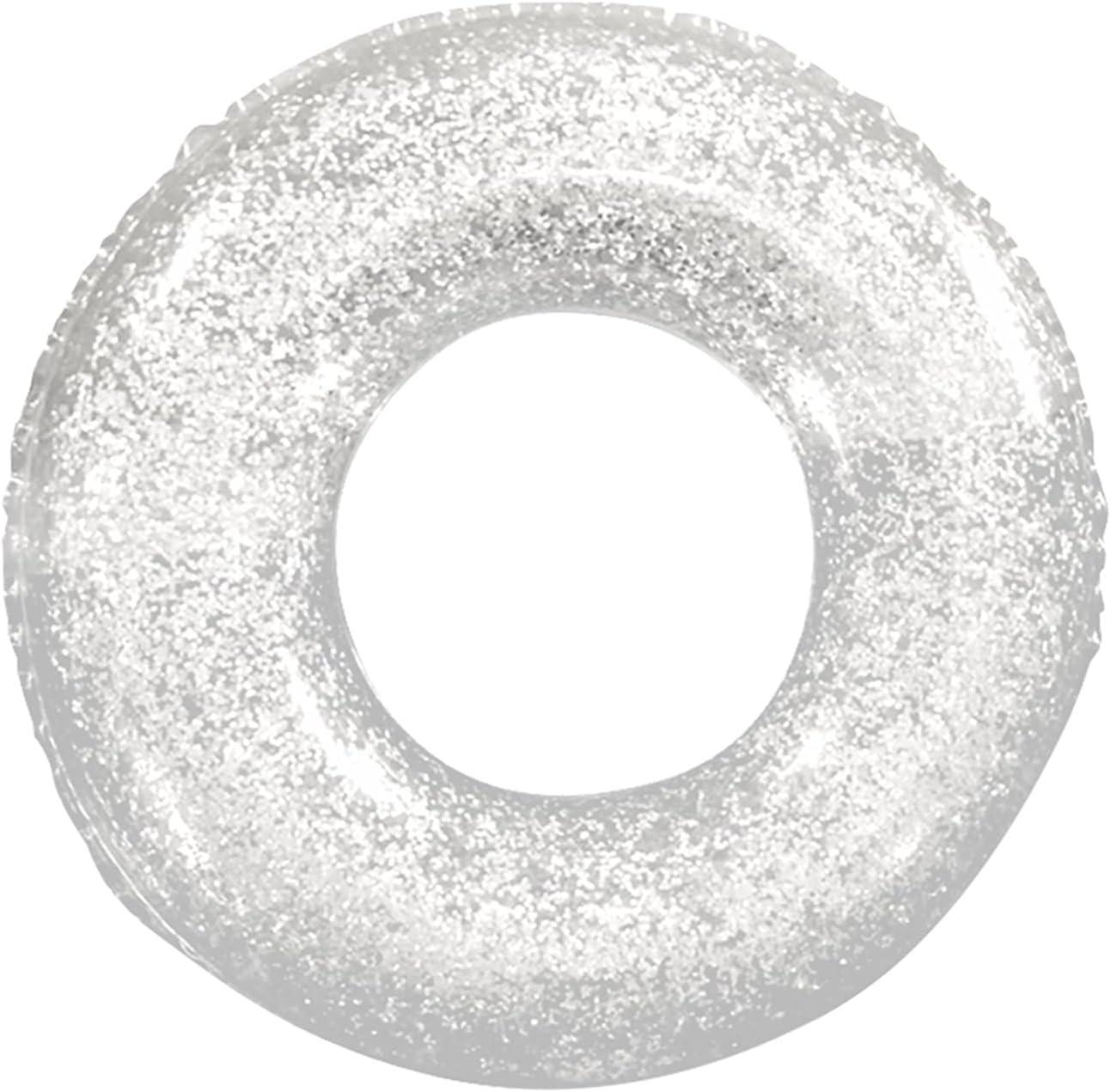 GYSEA Bola Flotante de la Piscina del Brillo Dorado, Anillo de natación Brillante de Cristal de la Piscina Inflable, 90 cm 120 cm Anillo de natación Adulto