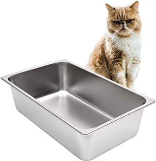 Kichwit Stainless Steel Litter Box for Cat and Rabbit, Non Stick Smooth Surface
