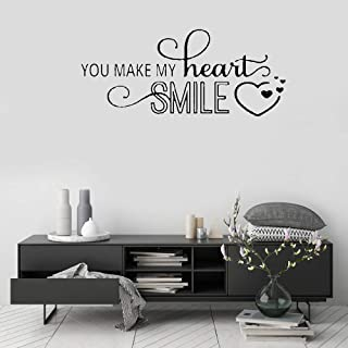 Letters Wall Stickers Home Deocr Mural Wall Decal Art You Make My Heart Smile