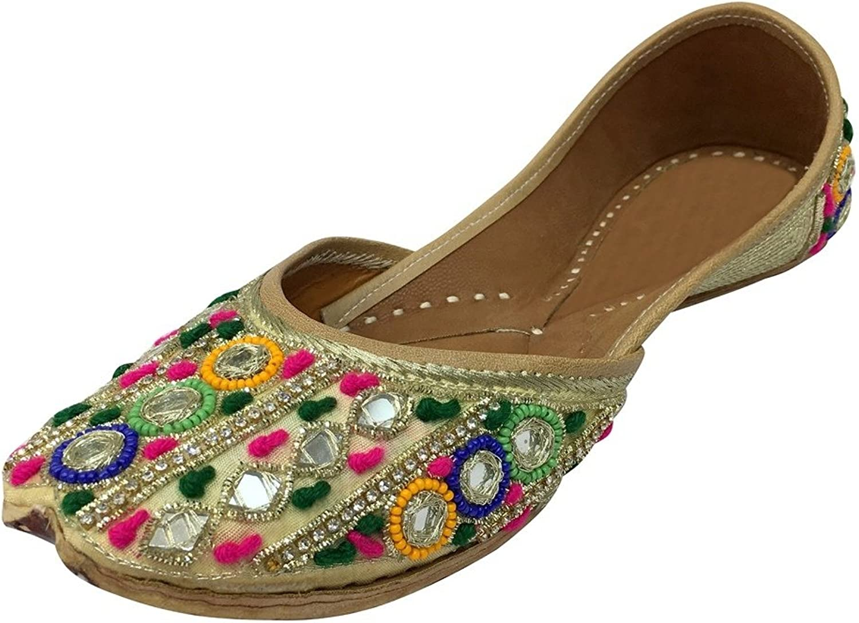 Step n Style Traditional Handmade Women shoes Indian Mojari Leather Flip-Flops Juti DD997