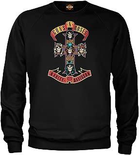 HARLEY-DAVIDSON Men's Guns N' Roses AFD Cross Pullover Sweatshirt, Solid Black