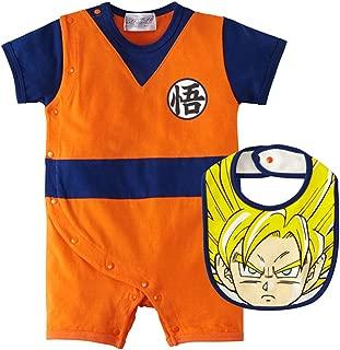 Dragon Ball Z Design Baby Romper + Bib Set