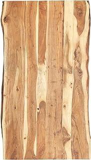 vidaXL Massivholz Tischplatte Baumkante Massivholzplatte Akazie 120x(50-60) x3,8cm