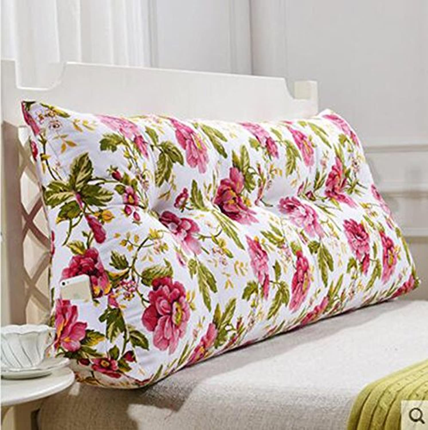 RFJJAL Sofa Cushions, Pillows, Double Soft Packs, Large Pillows, Bed Backs (color   A, Size   135cm)