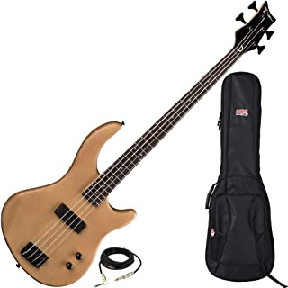 $219 » Dean Edge 09 Satin Natural Bass Guitar with Gator Backpack Style Gig Bag
