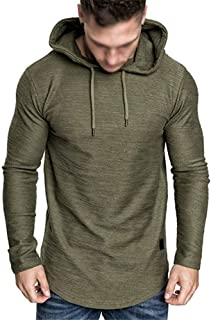 Men's Fashion Athletic Hoodies Active Outdoor Muscle Gym Running Sweatshirt Long Sleeve Tops