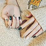Neues 24Pcs Fake Nail Design Für Sommerpflanzen Für Frauen Fake Nail Short Gold Nagelpulver Fake Nägel Und Kleber Auf Nagelzubehör Gedrückt