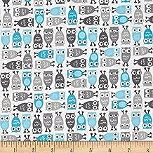blue owl fabric