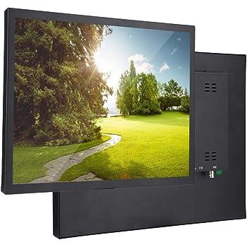 Monitor de 17 pulgadas Pantalla táctil capacitiva de punto ultra grande 1280x1024 TFT Pantalla panorámica de 4: 3 Todo el monitor de la industria del metal Los monitores de seguridad admiten(EU): Amazon.es: