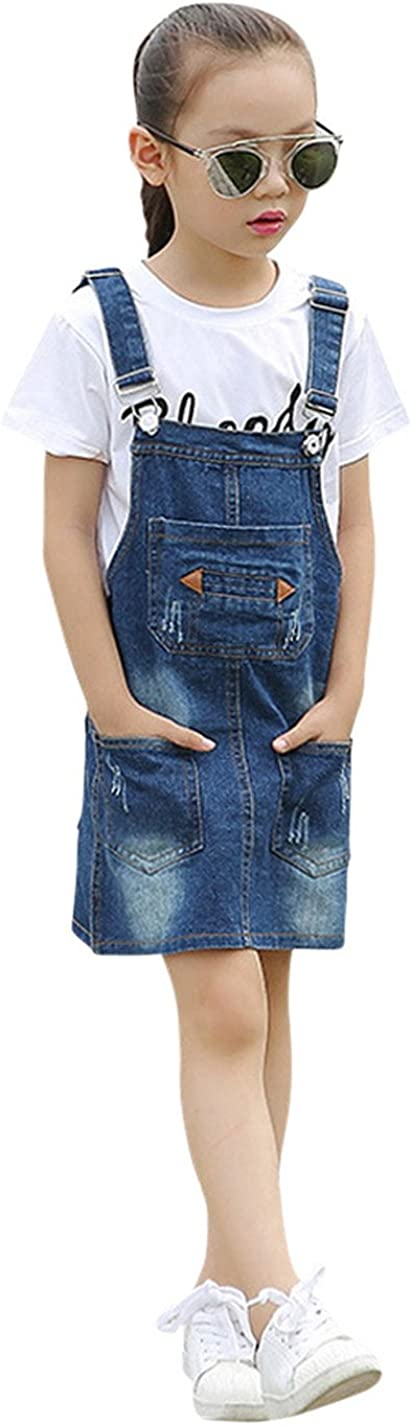 Tortor 1Bacha Colorado Springs favorite Mall Kid Little Big Girls' Denim Bib Distressed Overall