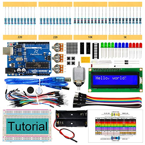 Freenove Super Starter Kit for Arduino | Beginner Learning | Uno R3 Mega Nano Micro | 25 Projects, 139 Pages Detailed Tutorial