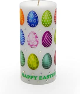 Sam & Wishbone Holiday Easter Candles Hand Crafted Egg Ornament with Rhinestones from Easter Collection (3