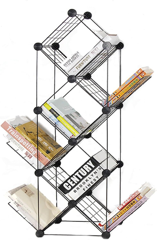 Bookcases, Cabinets Shelves 7-Layer Combination of Adjustable Creative European Minimalist Bookshelf Landing Small Space Magazine Rack Shelf Storage Rack Product Shelf