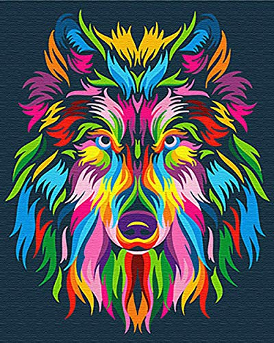 wolf color by number - 7