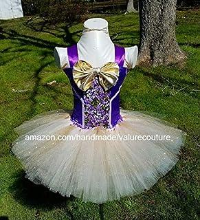 0ae25a3efe516 Willy Wonka Inspired Tutu Dress Costume Pageant Birthday Halloween Girls  Newborn Infant Toddler