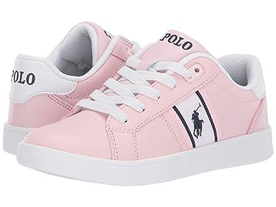 Polo Ralph Lauren Kids Quigley (Little Kid) (Light Pink Smooth/White/Navy/Navy Pony) Girl