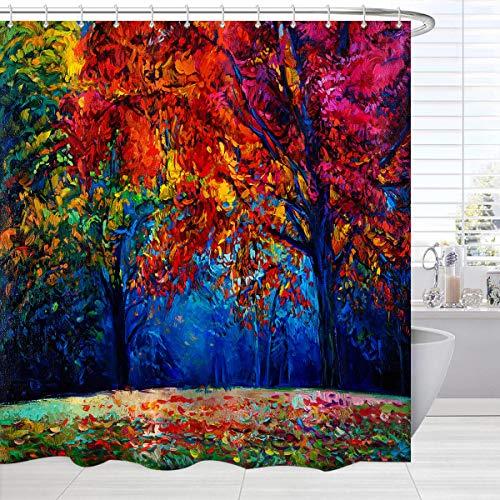 BROSHAN Stoff Paisley Duschvorhang, Beige Elegant Mandalas & Paisley Blumenmuster im indischen Stil, wasserdicht, schimmelresistent, mit Haken, 183 x 183 cm 72Wx84L Style 2'