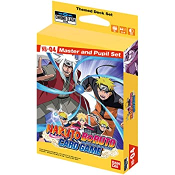 Chrono Clash Naruto Boruto Card Game Master and Pupil Expansion Set System