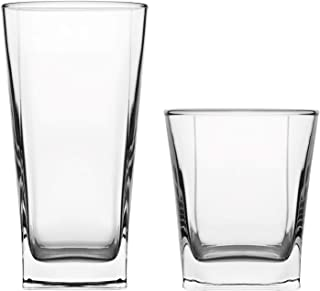 Pasabahce Carre Premium Drinking Glasses | Tumbler, Water Glassware | Lead Free, Cold Soft Drinks, Beverages | For Home, Office, Hotel, Bars | Set of 12