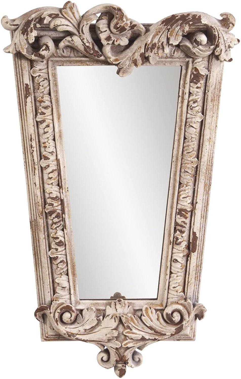 Howard Elliott Collection 52004 Noelle Aged Mirror, 12 x 20-Inch, Stone