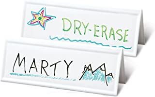 Set of 36 Reusable Name Cards - WHITE, dry-erase tent, LARGE 11