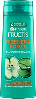 Garnier Shampoo Fructis Rigenera Forza, Shampoo per Capelli Fragili, Tendenti alla Caduta da Rottura, 250 ml