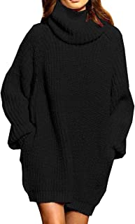 Women's Loose Oversize Turtleneck Wool Long Pullover...