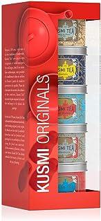 Kusmi Tea Tee Geschenkset Kusmi Originals - 5 Minidosen Kusmi Schwarztee Klassiker - Earl Grey und Ceylon Tees mit Zitrusaromen und Gewürznoten - 5 Metalldosen mit je 25 g