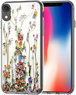 XR Case - Case for 10R - CCLOT Cover Compatible for iPhone XR Art of Nature Flower Print (TPU Protective Silicone Bumper Skin)