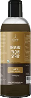 Naturevibe Botanicals Organic Yacon Syrup (8oz) | Non GMO and Gluten Free | Natural Sweetener | Supports Digestion and Boost Immunity.
