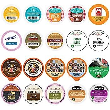 Crazy Cups Variety Pack Sampler Assorted Single Serve Pods for Keurig K Cups Makers 20 Count