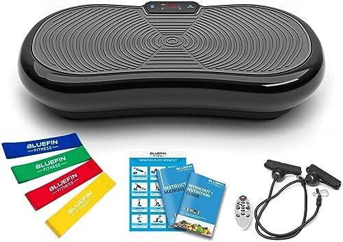 Bluefin Fitness Plataforma Vibratoria Ultra Slim | 5 Programas + 180 Niveles | Altavoces Bluetooth | Fácil de Guardar...