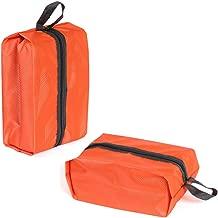 Enterest Large Capacity Shoe Bag Waterproof Travel Shoe Bag Storage Bag with Zipper Closure 210D Nylon Material Perfect Organizer for Men and Women Handbag Design (Orange)
