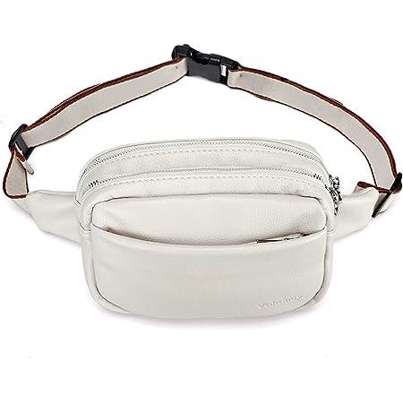 Gürteltasche Damen Bauchtasche Mode Hüfttasche Damen Geldbörse Ovalen Taschen Umhängetasche Mini Gürteltasche für Reise Wanderung und Alle Outdoor-aktivitäten (Gürteltasche Damen Weiß)