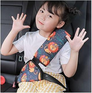 puraspace 子供 シートベルトカバー デコレーション アジャスター 可愛い 取り付け簡単 ソフト 肩 首 保護 旅行 車用