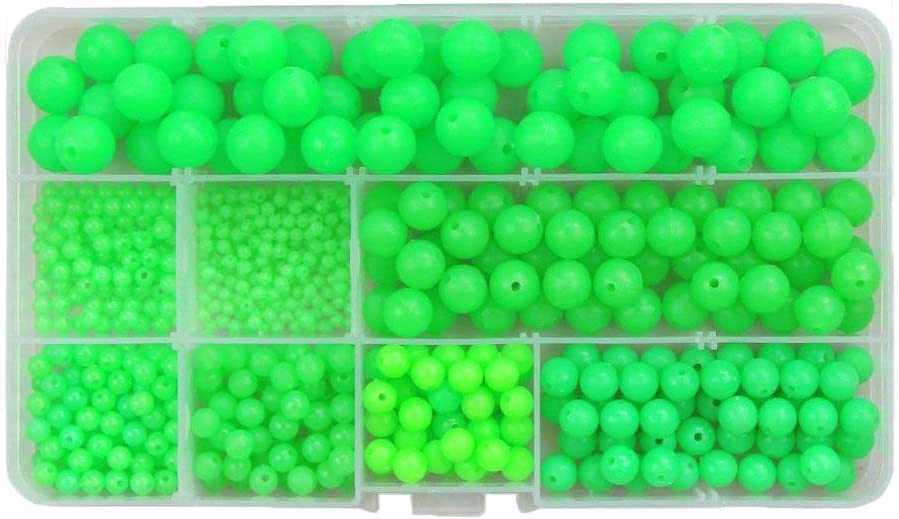 Persei 500pcs box Round Oval Luminous Year-end annual account Fishing Glow Charlotte Mall Sea Rig Beads