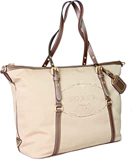 Women's 1BG253 UCW F0B16 Beige Fabric Shoulder Bag