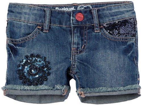 Desigual Luxe - Pantalón Corto para niña, Talla 4 años (104 cm), Color Azul (Estate Blue)