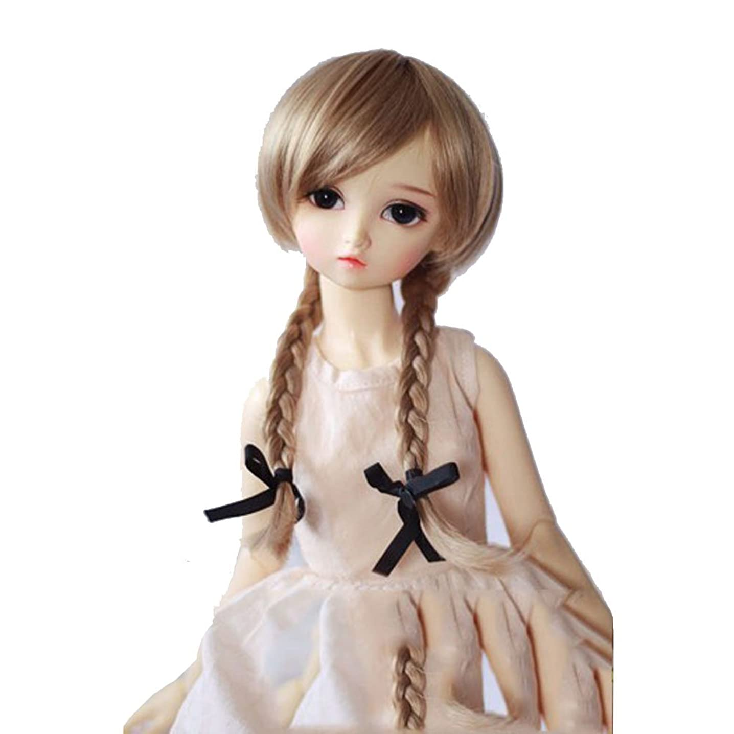 1/6 BJD SD Doll Wig High Temperature Synthetic Fiber Long Blonde Braided Wavy 1/3 1/4 1/6 BJD SD Doll Wigs