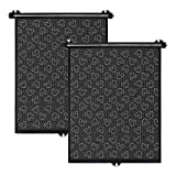 Disney Baby by J.L. Childress Roller Car Window Sun Shades, 2 Pack, Mickey Black