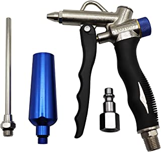 YOTOO 2-Way Air Blow Gun kit with Adjustable Air Flow, Extended Nozzle, High Flow Nozzle and 1/4