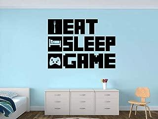 Eat Sleep Game Gamer Room Vinyl Wall Decal Sticker
