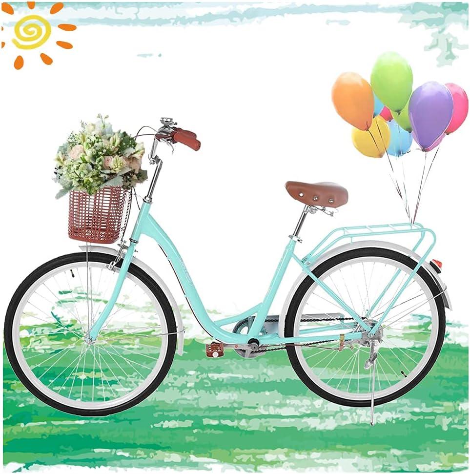 Micozy Womens Bikes Beach Max 75% OFF Cruiser Bicycle Retro Classi Bike 26in Super special price