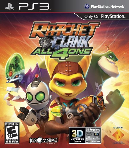 ps3 multiplayer games Sony PlayStation 98175 Ratchet & Clank: All 4 One PS3