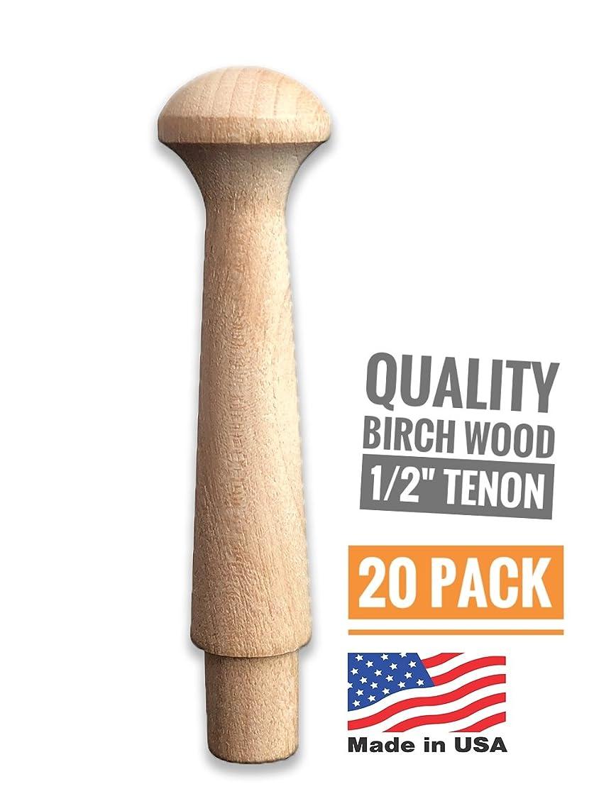 Birch Wood Shaker Pegs 3-1/2