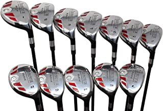 "iDrive Hybrids Senior Men's All True Complete Full Set, Includes: #1,2,3,4,5,6,7,8,9, PW, SW, LW. Senior Flex with Tacki-Mac Midsize Grips Right Handed Utility ""A"" Flex Clubs"