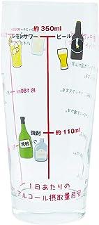 おもしろ食器アルコール摂取適量 グラス 465ml SAN3404 日本製