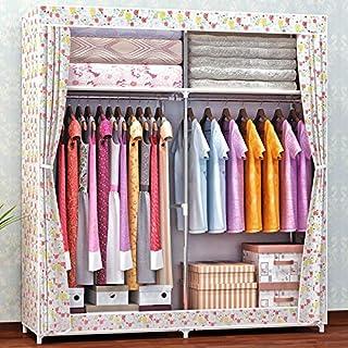 Armoire en Tissu pour vêtements Pliant Portable Armoire de Rangement Armoire Chambre à Coucher Meubles de Maison 168x130x4...