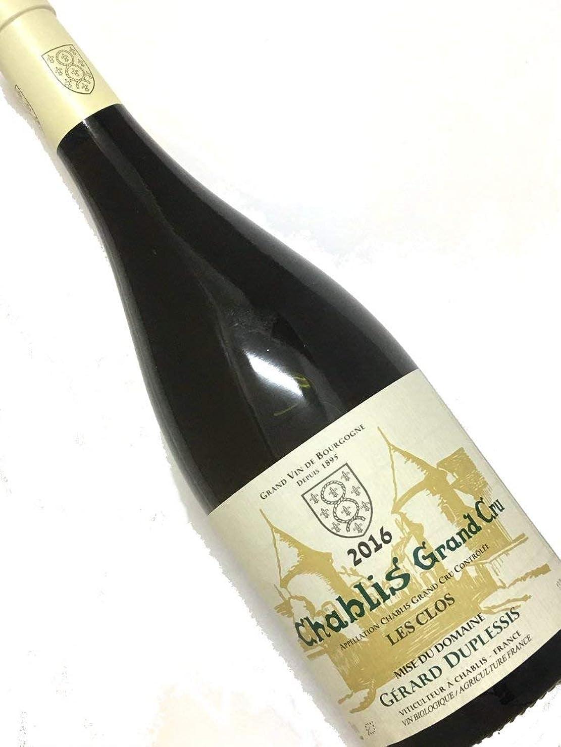 ミュージカル収縮下に2016年 ジェラール デュプレシ シャブリ レ クロ 750ml フランス ブルゴーニュ 白ワイン