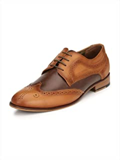 HITZ Tan Formal Leather Shoes for Men